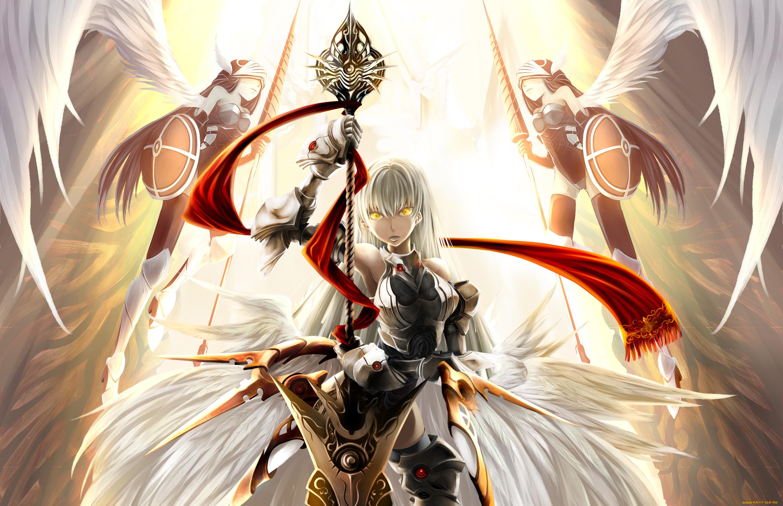 Картинка ангел с оружием